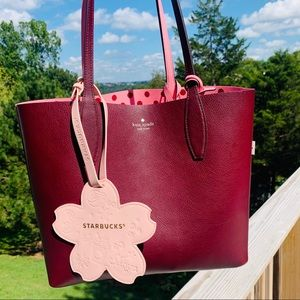 Starbucks Other - Starbucks Sakura Luggage Tag Bag Cherry